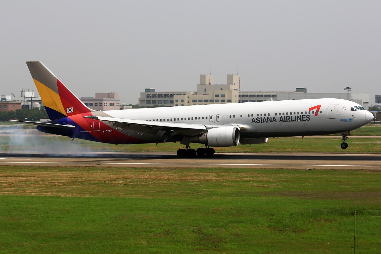 Re:[原创]【NKG】**********即将告别落地的24水泥台:韩亚763,酷航772,东阿阿胶,云南信息报********** BOEING 767-300 HL7506 中国南京禄口机场