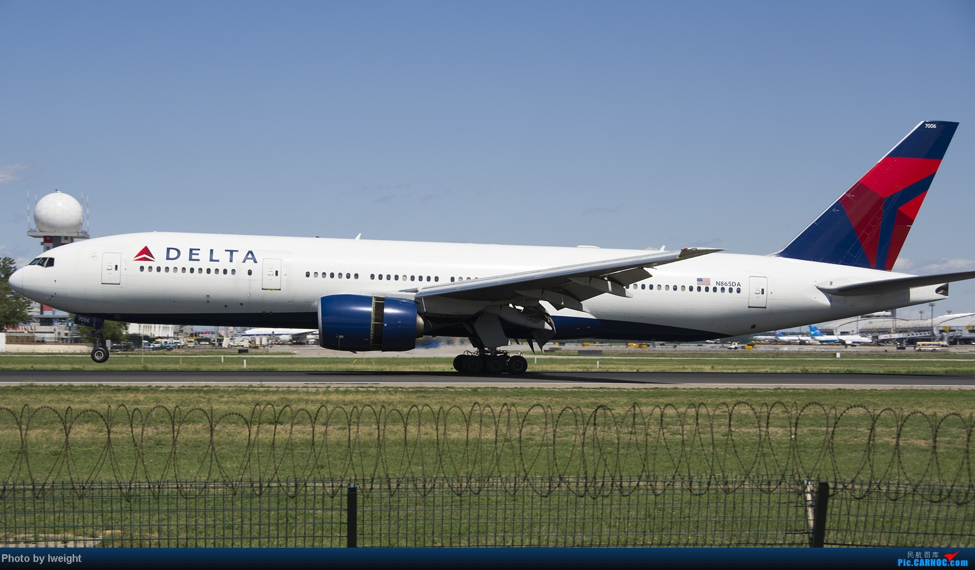 Re:[原创]新相机+好天气,PEK试机乱拍 BOEING 777-200 N865DA 中国北京首都机场