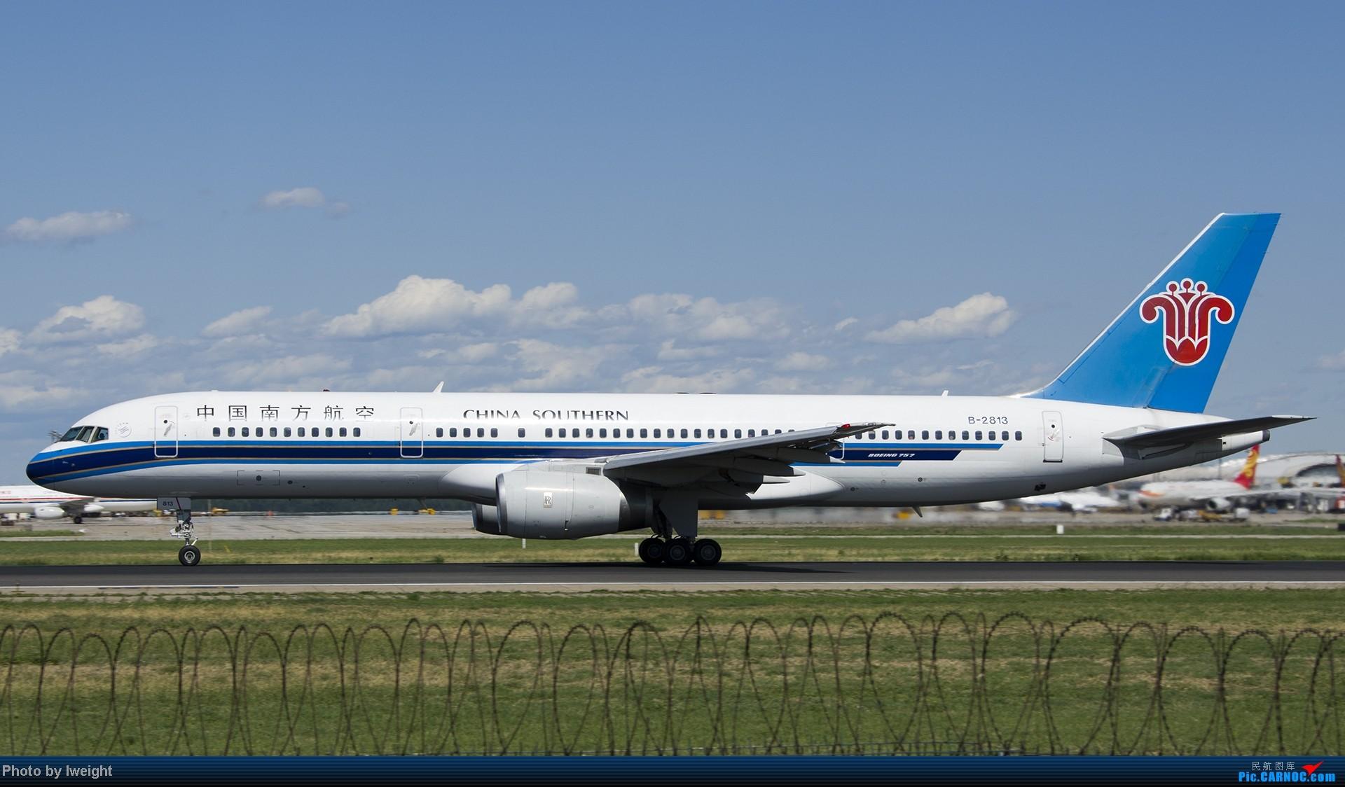 Re:[原创]新相机+好天气,PEK试机乱拍 BOEING 757-200 B-2813 中国北京首都机场