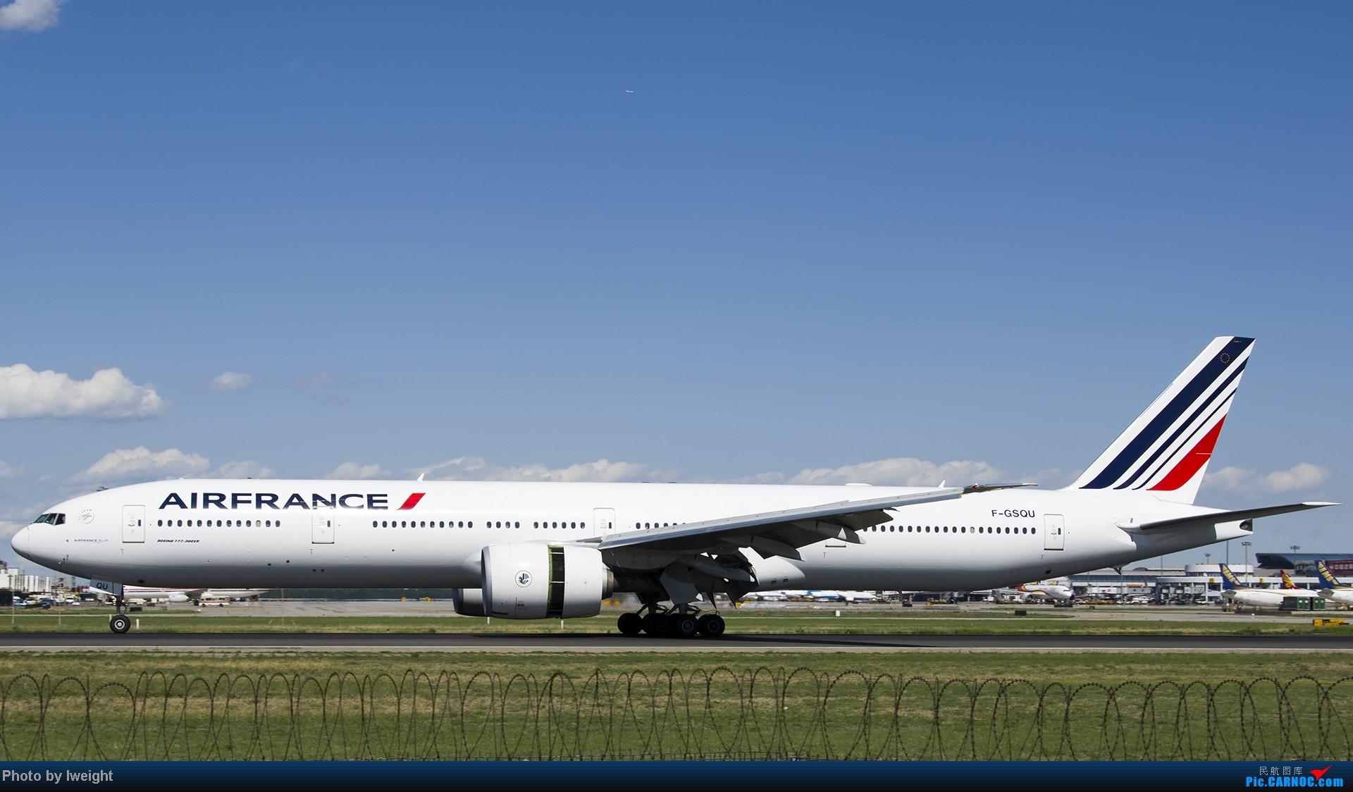 Re:[原创]新相机+好天气,PEK试机乱拍 BOEING 777-300ER F-GSQU 中国北京首都机场