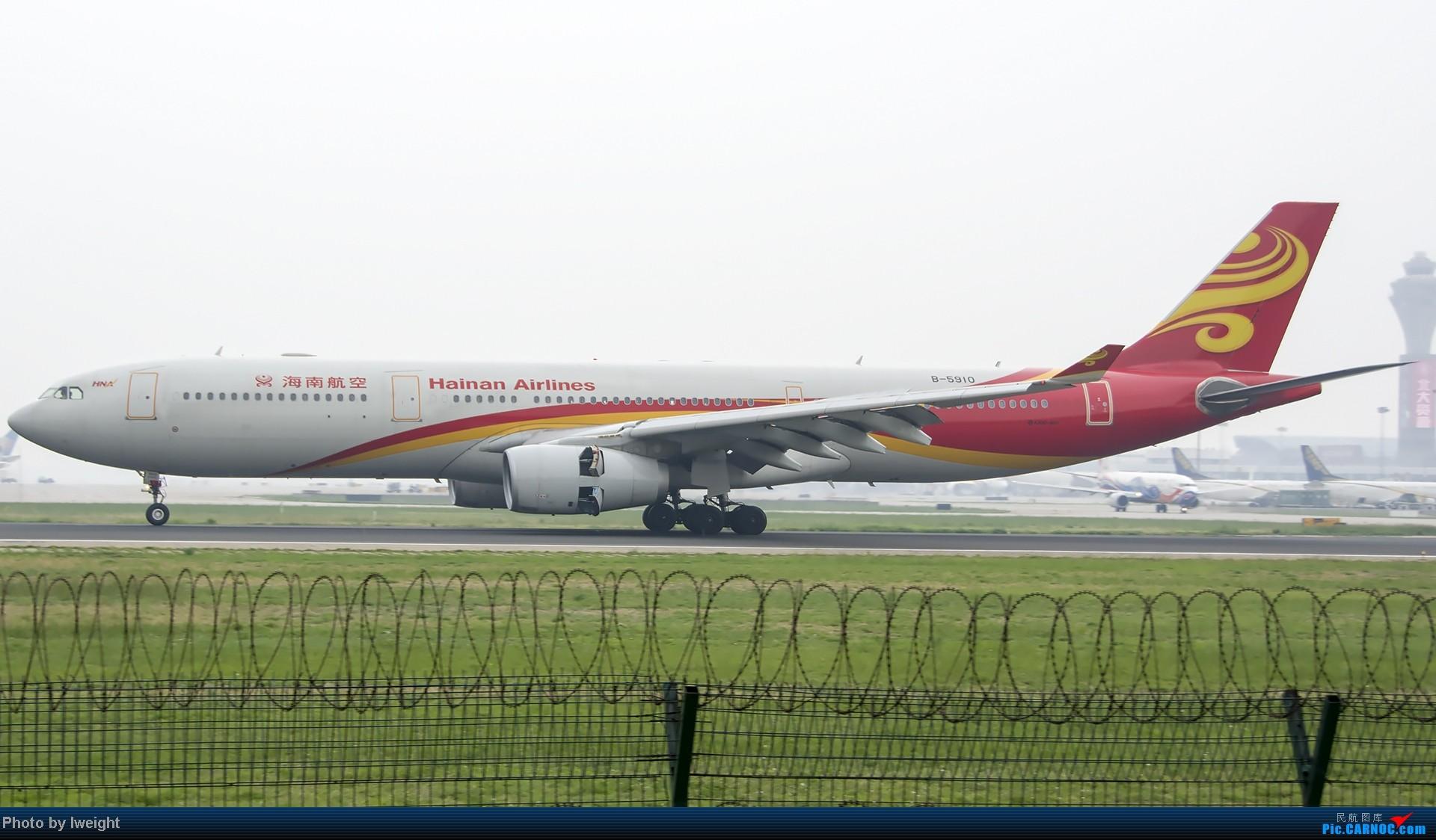 Re:[原创]休假无聊,跑道边来拍机玩(晚点的ZestAir、换装的B6100和刚交付的B2738等) AIRBUS A330-300 B-5910 中国北京首都机场