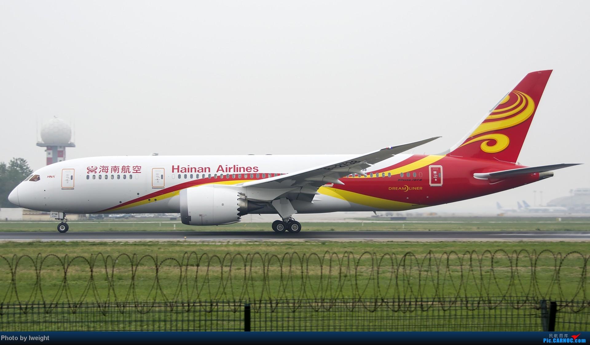 Re:[原创]休假无聊,跑道边来拍机玩(晚点的ZestAir、换装的B6100和刚交付的B2738等) BOEING 787-8 B-2738 中国北京首都机场