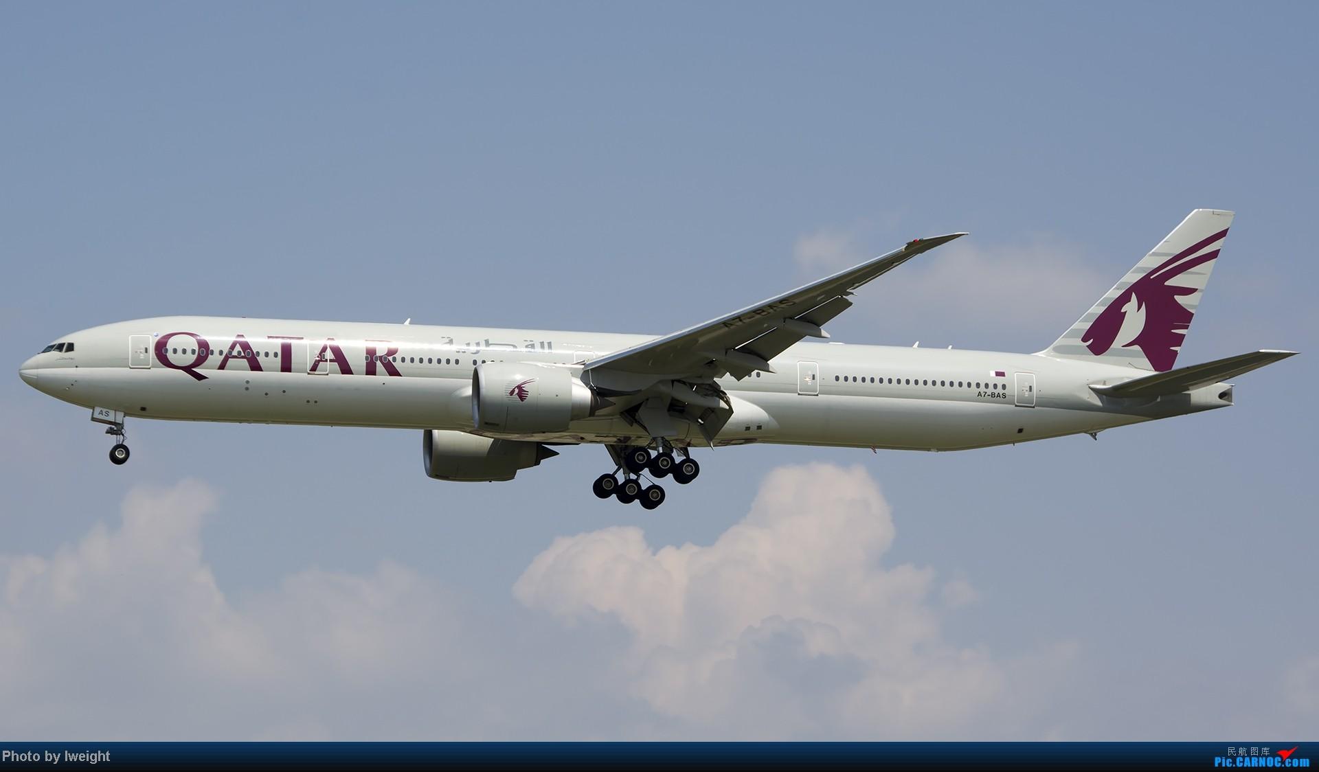 [原创]20号下午机场随拍(国内最新的787-8) BOEING 777-300 A7-BAS 中国北京首都机场