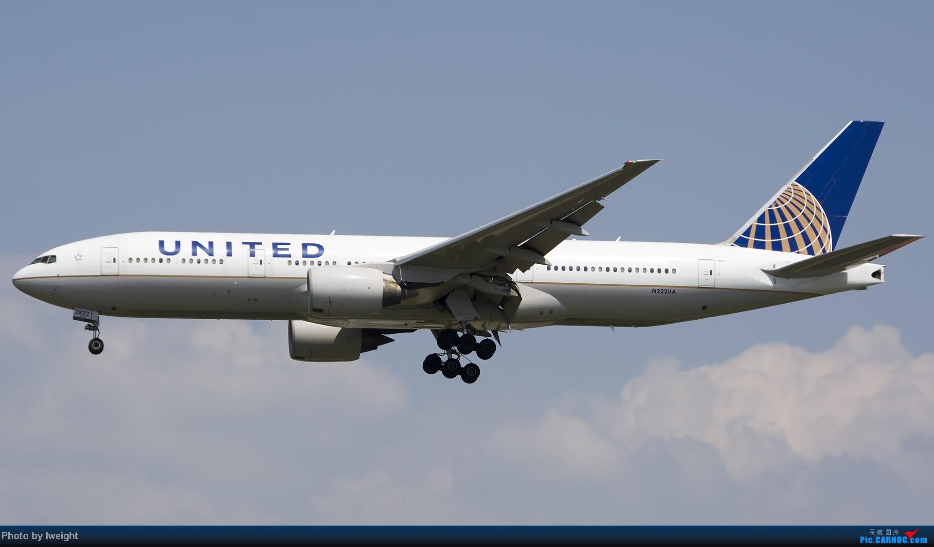 Re:[原创]20号下午机场随拍(国内最新的787-8) BOEING 777-200 N222UA 中国北京首都机场