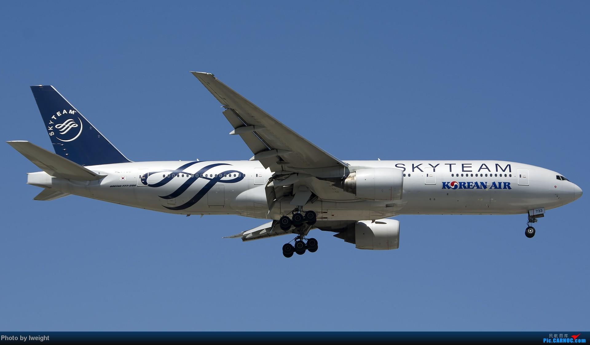 Re:[原创]酷暑周末拍遍PEK三条跑道,收获众多常见机型 BOEING 777-200 HL7733 中国北京首都机场