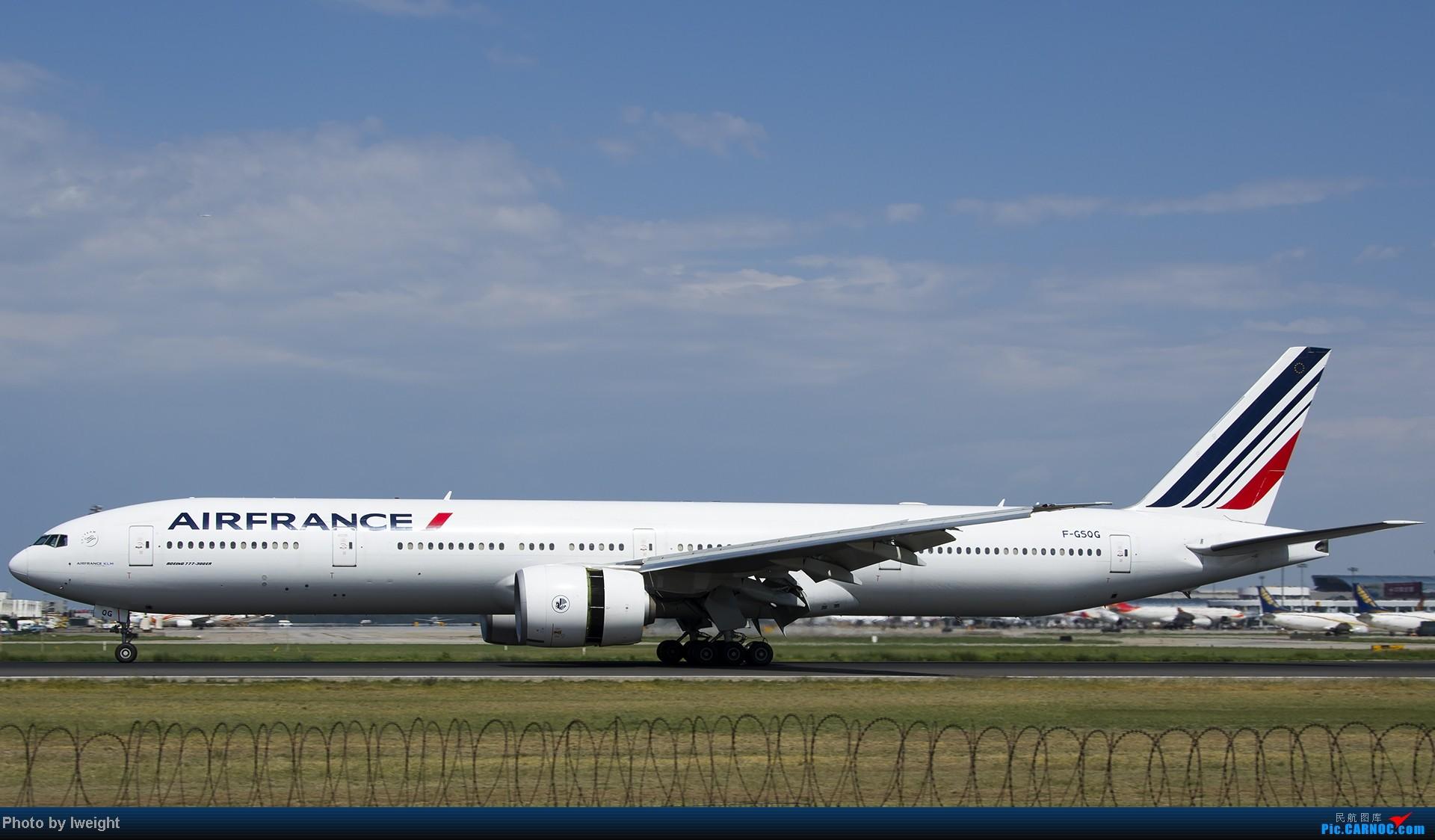 Re:[原创]酷暑周末拍遍PEK三条跑道,收获众多常见机型 BOEING 777-300 F-GSQG 中国北京首都机场