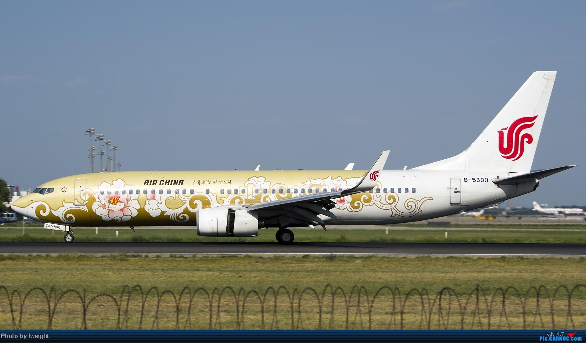 Re:[原创]酷暑周末拍遍PEK三条跑道,收获众多常见机型 BOEING 737-800 B-5390 中国北京首都机场