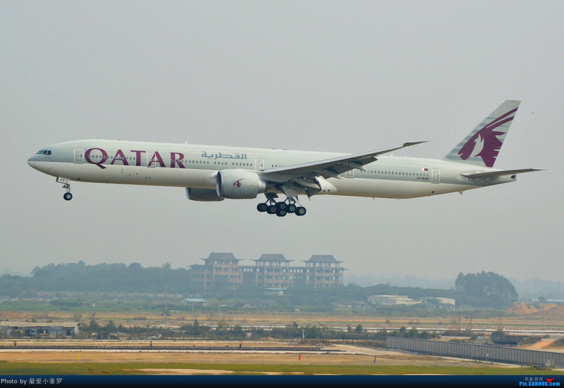 Re:去年11月15日,CAN烂天拍机,修出来的图无法直视 BOEING 777-300 A7-BAS