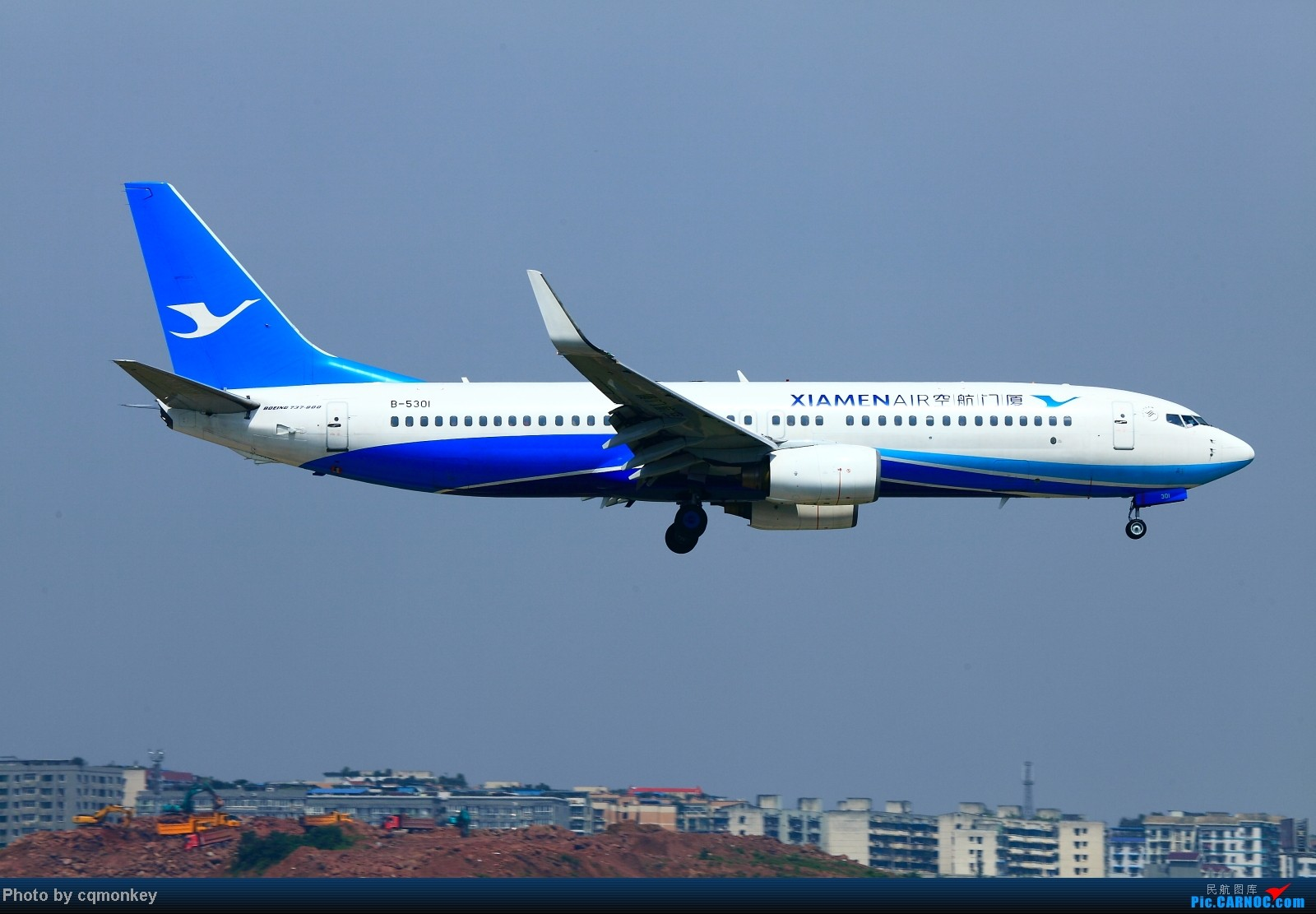 Re:[原创]20140705CKG杂图一组 BOEING 737-800 B-5301 中国重庆江北机场