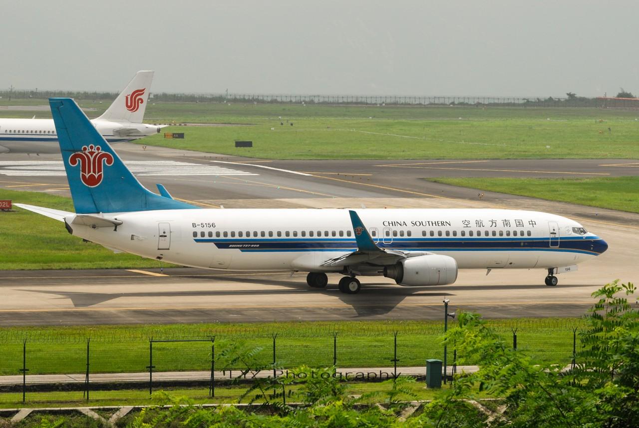Re:[原创]【回归贴】——CKG平淡无奇的一天 BOEING 737-800 B-5156 中国重庆江北机场