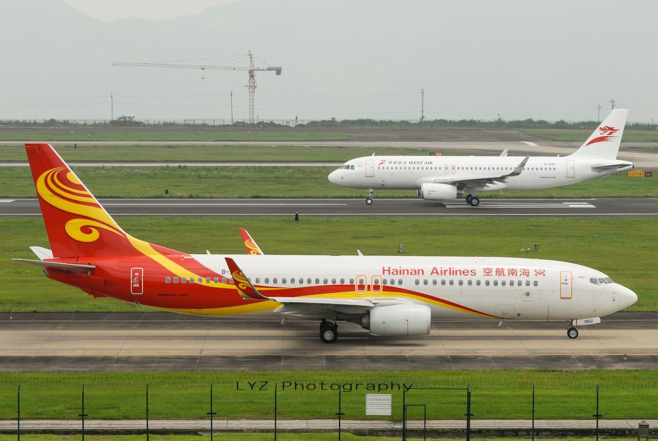 Re:[原创]【回归贴】——CKG平淡无奇的一天 BOEING 737-800 B-1902 中国重庆江北机场