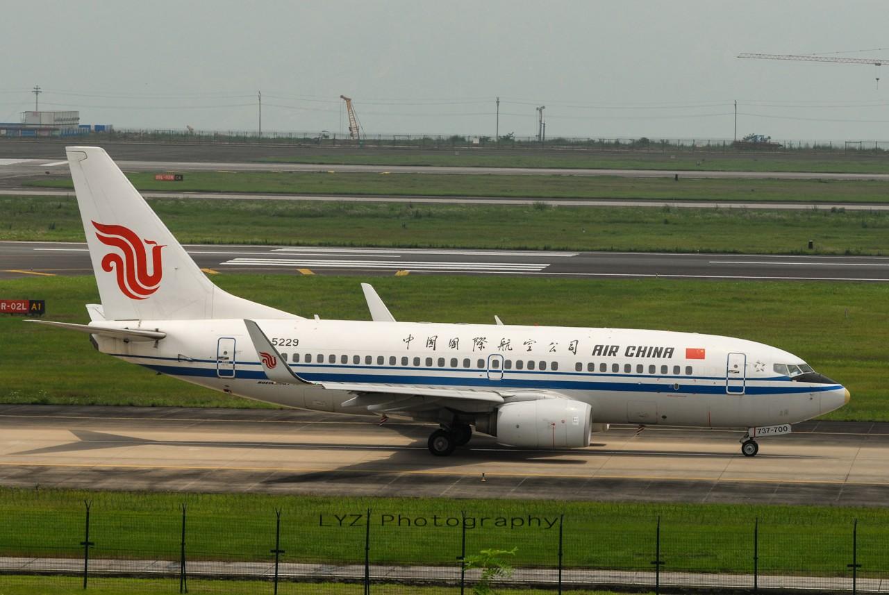 Re:[原创]【回归贴】——CKG平淡无奇的一天 BOEING 737-700 B-5229 中国重庆江北机场