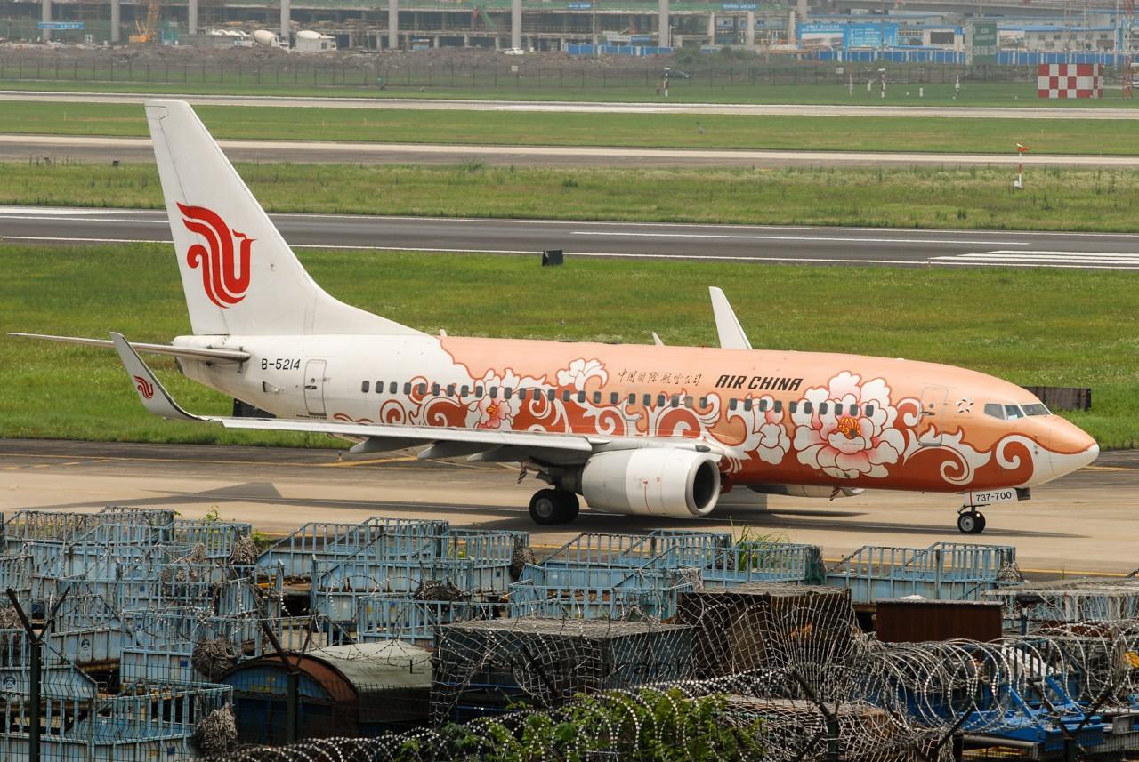 Re:[原创]【回归贴】——CKG平淡无奇的一天 BOEING 737-700 B-5214 中国重庆江北机场