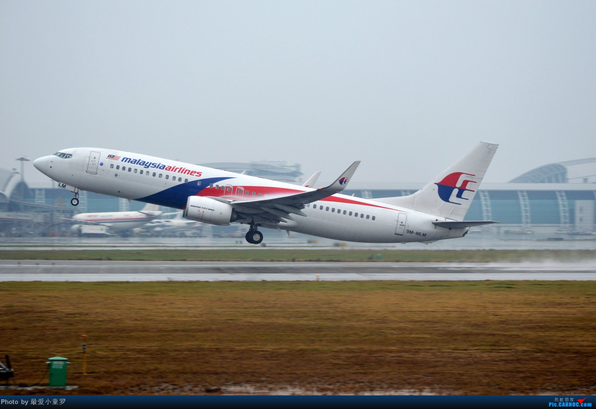 Re:[原创]去年在CAN拍国航757退役时候的那个冷雨周末 BOEING 737-800 9M-MLM