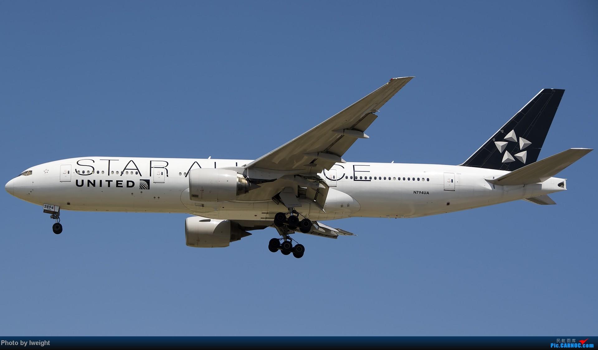 [原创]7月13日下午随手拍机 BOEING 777-200 N794UA 中国北京首都机场