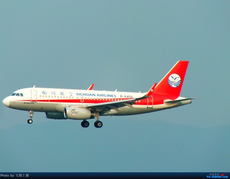 Re:[原创]CKG拍机(国航彩凤凰,汉能G550,南航333复飞) AIRBUS A319 B-6455 重庆江北国际机场