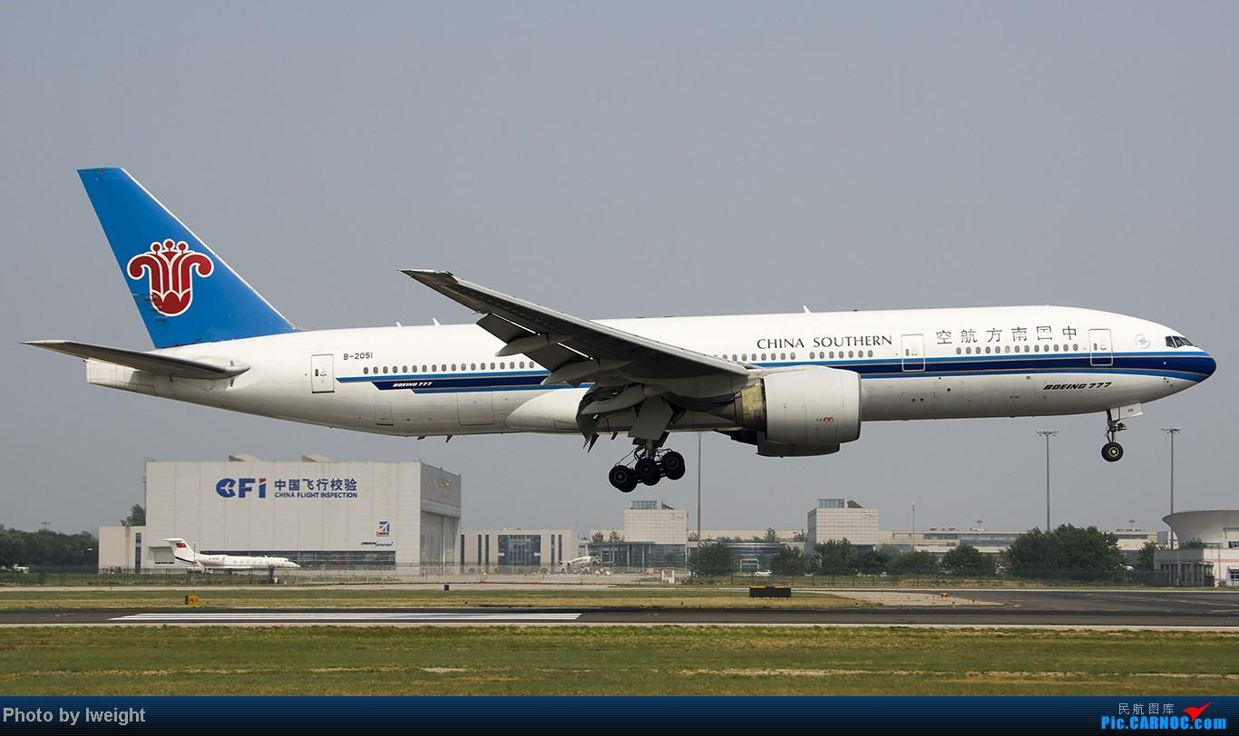 Re:[原创]给力的南风,恼人的雾霾,首都机场7.27 BOEING 777-200 B-2051 中国北京首都机场
