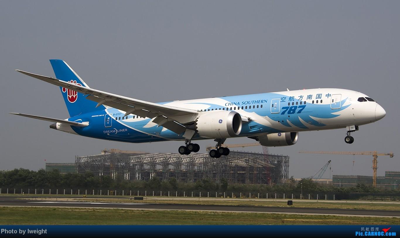 Re:[原创]给力的南风,恼人的雾霾,首都机场7.27 BOEING 787-8 B-2727 中国北京首都机场