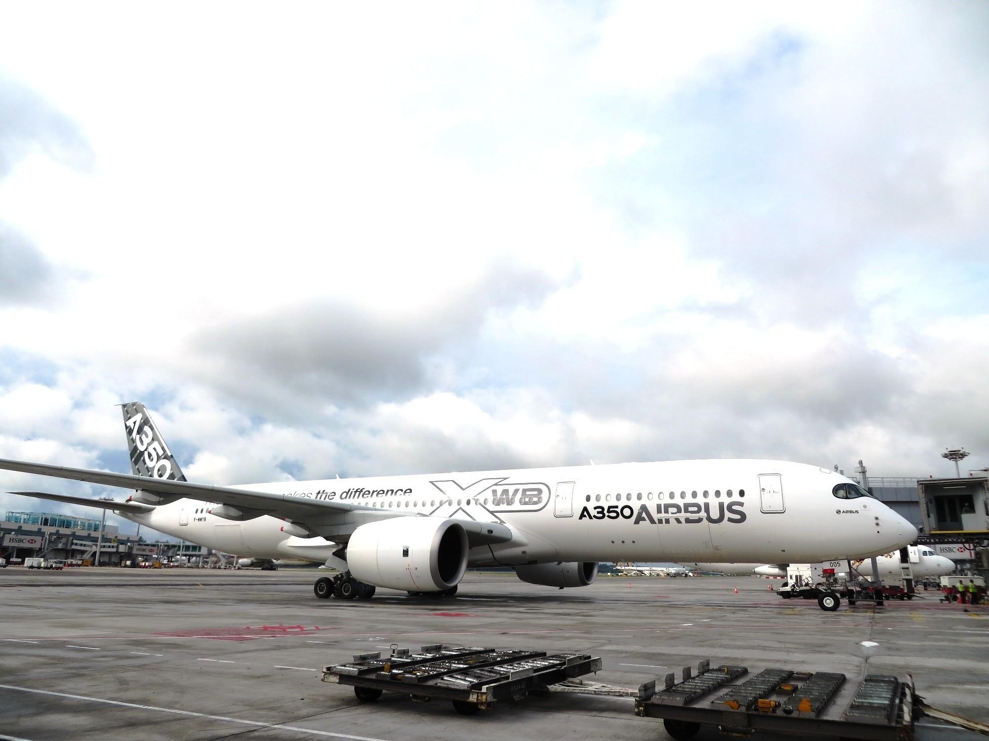 A350 MSN005 到访新加坡 A350-900 F-WWYB 新加坡樟宜机场
