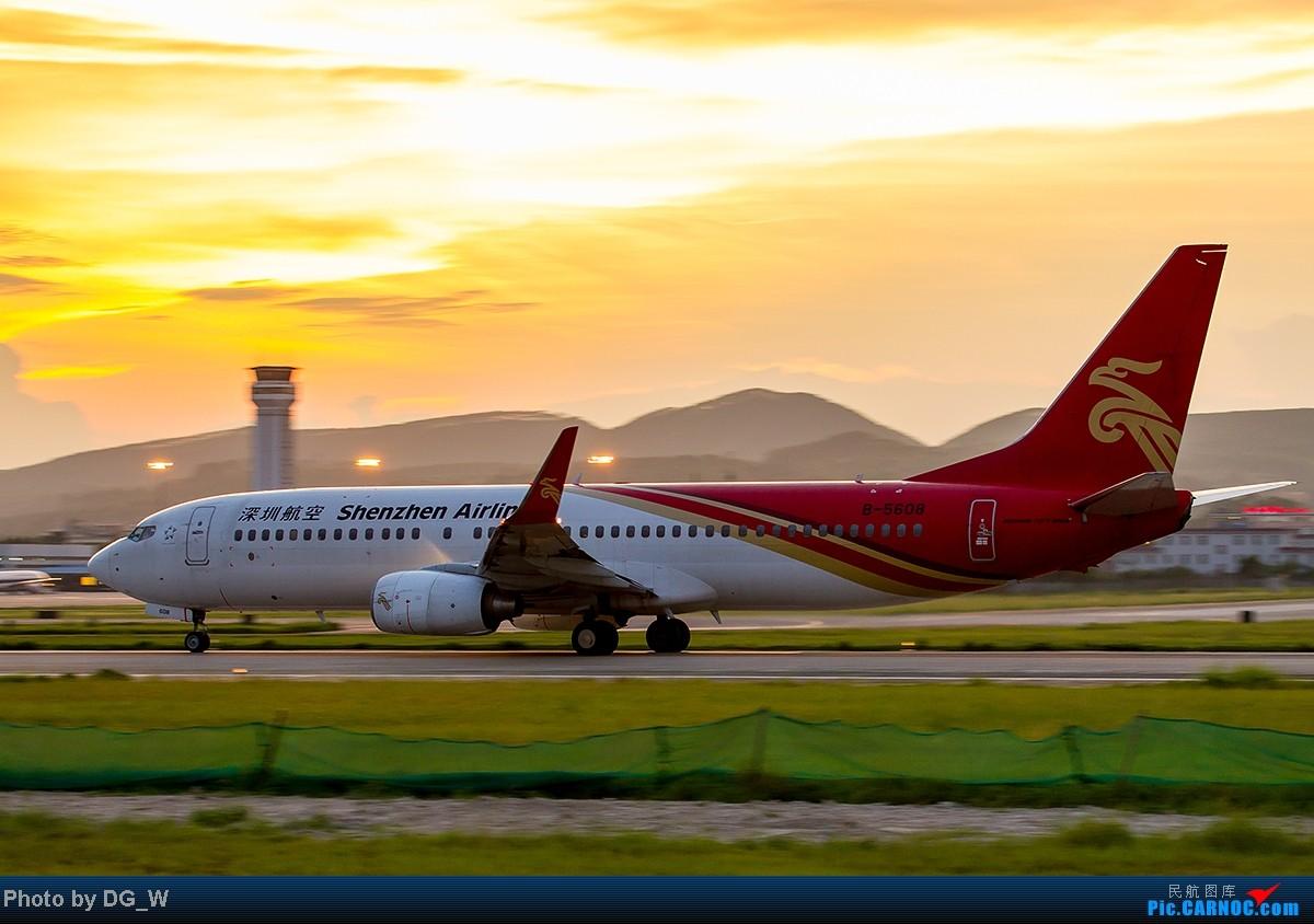 Re:[原创]【南宁飞友】NNG的晚霞 BOEING 737-800 B-5608 中国南宁吴圩机场
