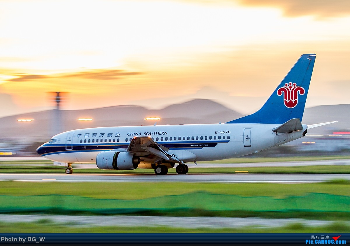 Re:[原创]【南宁飞友】NNG的晚霞 BOEING 737-700 B-5070 中国南宁吴圩机场