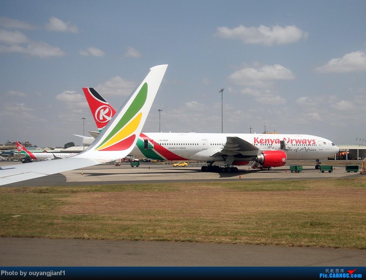 Re:[原创]一次真正的说走就走的旅行,一次真正与动物零距离接触的探险,埃塞俄比亚及肯尼亚游记.... BOEING 777-200 5Y-KQT 肯尼亚内罗毕乔莫·肯雅塔机场