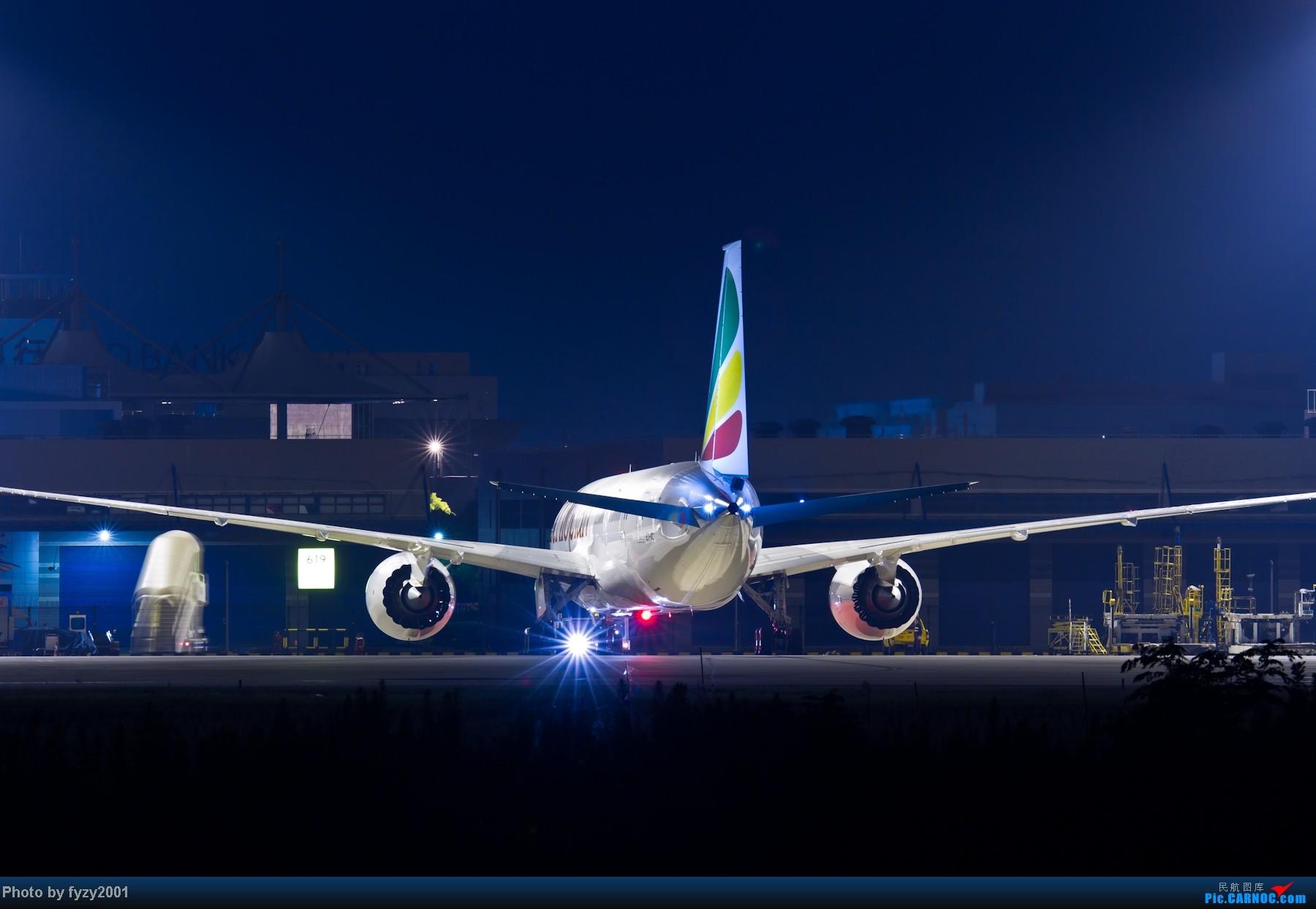 Re:[原创][无锡西站]PVG一些夜景 BOEING 787 ET-AOT 中国上海浦东机场