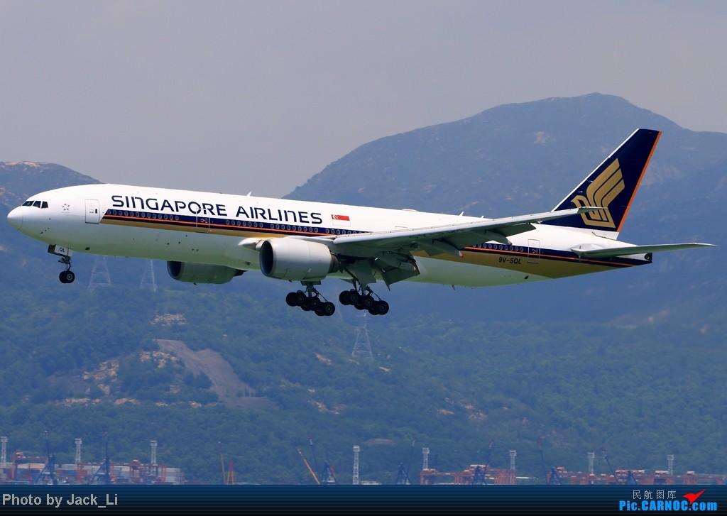 Re:[原创]2014年8月16日 香港机场拍机(第一次去维修区拍机,云们舞集彩绘,飞天熊猫。) BOEING 777-200 9V-SQL 中国香港赤鱲角机场
