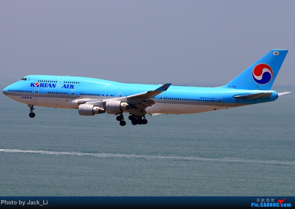 Re:[原创]2014年8月16日 香港机场拍机(第一次去维修区拍机,云们舞集彩绘,飞天熊猫。) BOEING 747-400 HL7491 中国香港赤鱲角机场