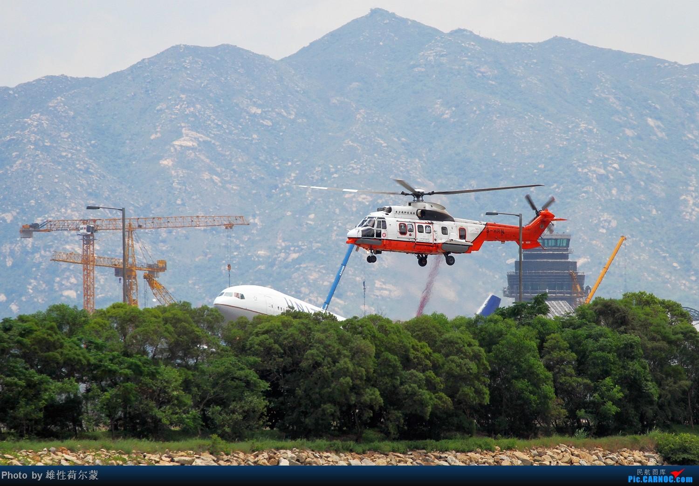 Re:[原创]香港机场沙螺湾村观机小记 超级美洲豹 AS332 L2 B-HRN 中国香港赤鱲角机场