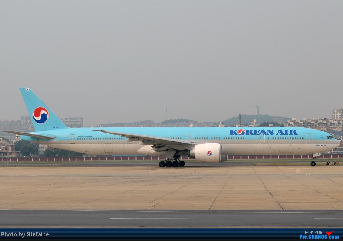 Re:[DLC]2014年夏季那些光临周水子的灰机 BOEING 777-300ER HL8218 中国大连周水子机场