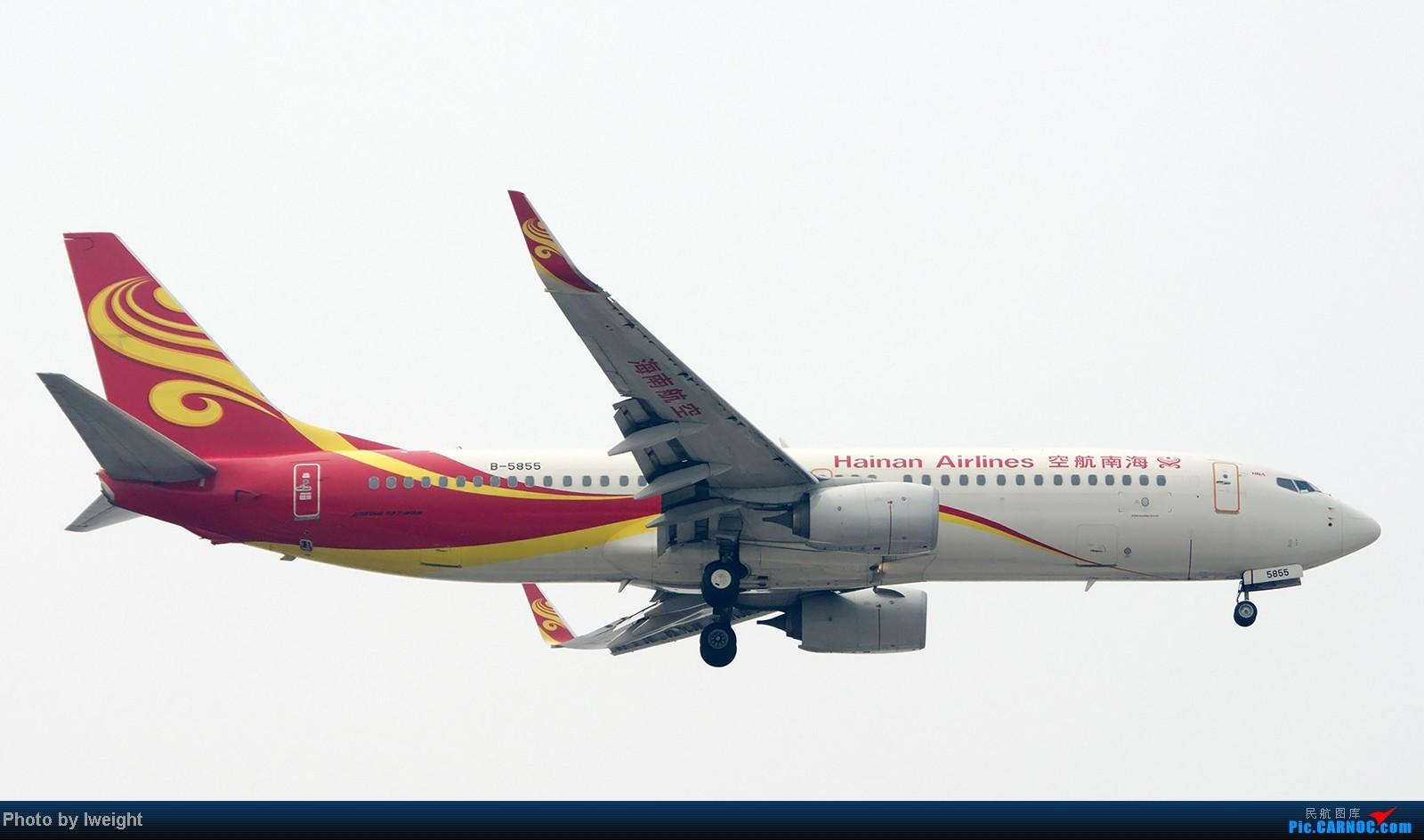 Re:[原创]9月7日帝都的烂天里乱拍一通 BOEING 737-800 B-5855 中国北京首都机场