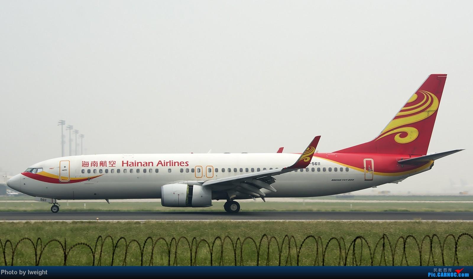 Re:[原创]9月7日帝都的烂天里乱拍一通 BOEING 737-800 B-5611 中国北京首都机场