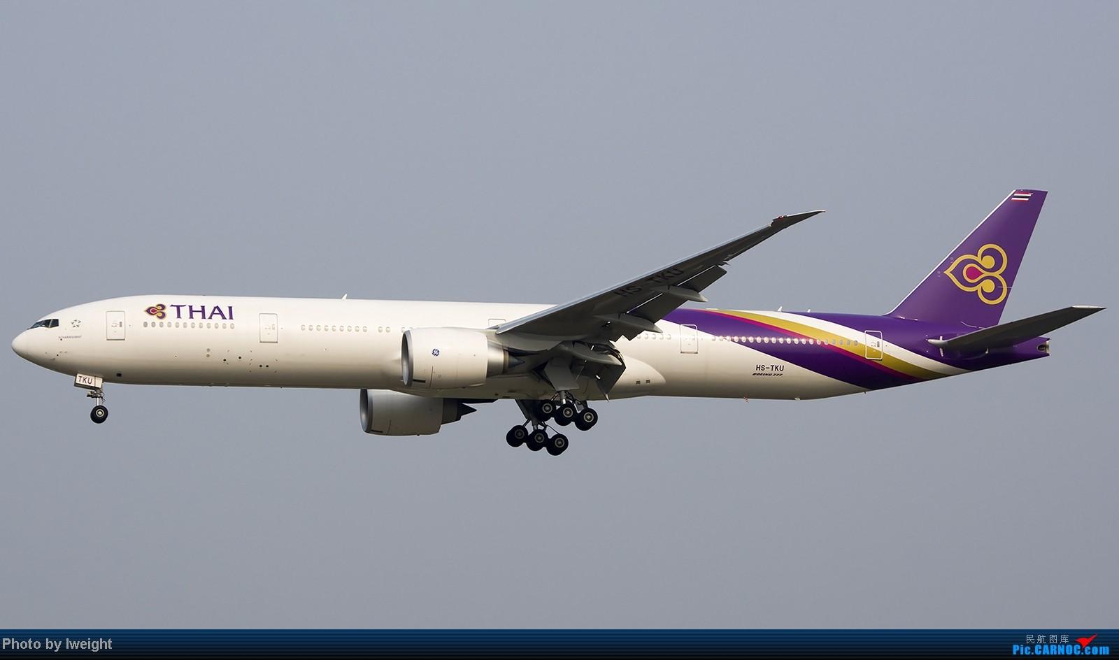 Re:[原创]9月7日帝都的烂天里乱拍一通 BOEING 777-300ER HS-TKU 中国北京首都机场