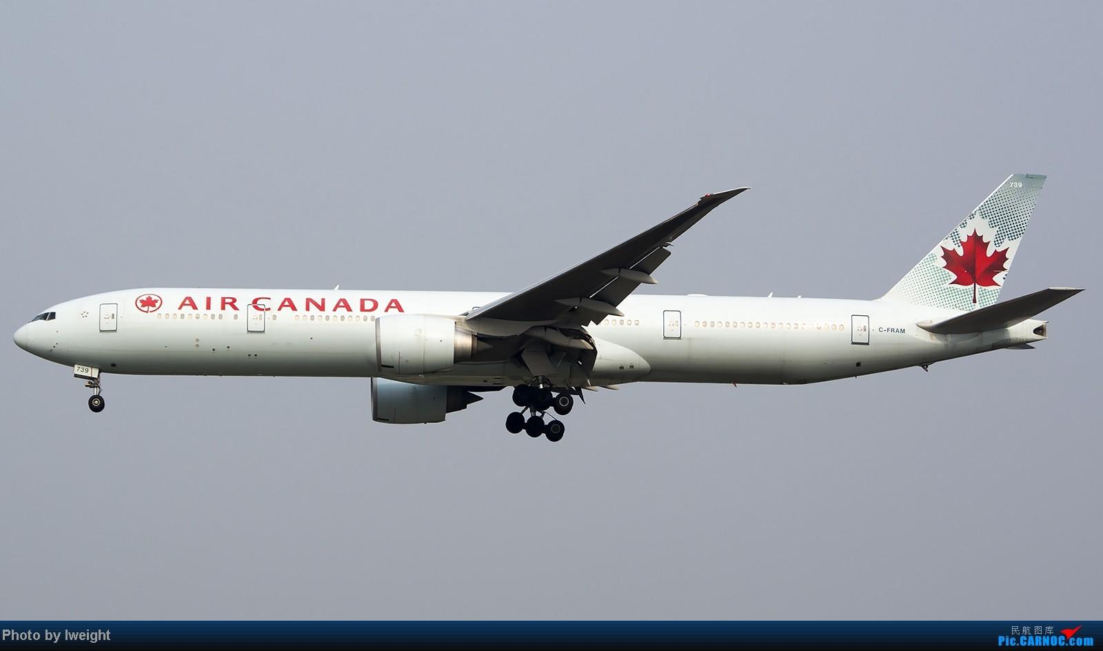 Re:[原创]9月7日帝都的烂天里乱拍一通 BOEING 777-300ER C-FRAM 中国北京首都机场