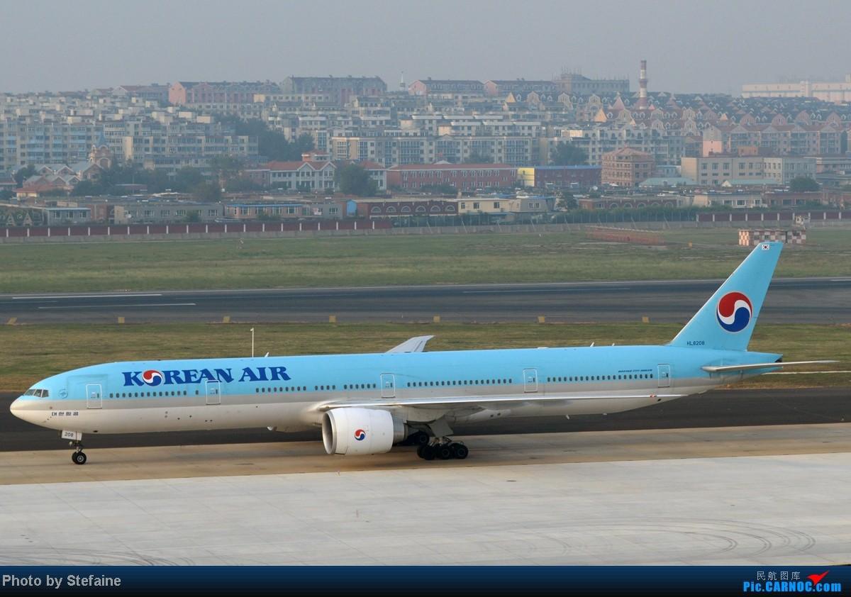 Re:[原创][DLC]暑期那些光临DLC的大小家伙们 BOEING 777-300ER HL8208 中国大连周水子机场