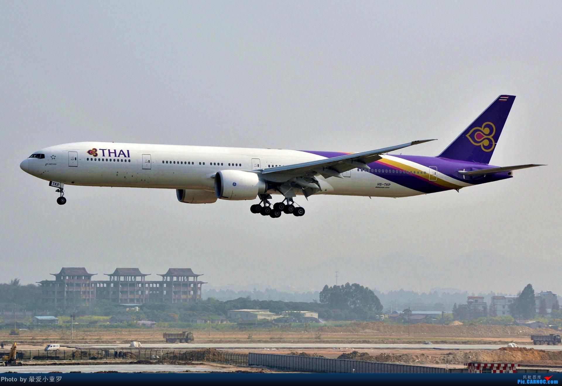 Re:[原创]好天拍机,去年12月21日广州消防塔拍机 BOEING 777-300ER HS-TKP
