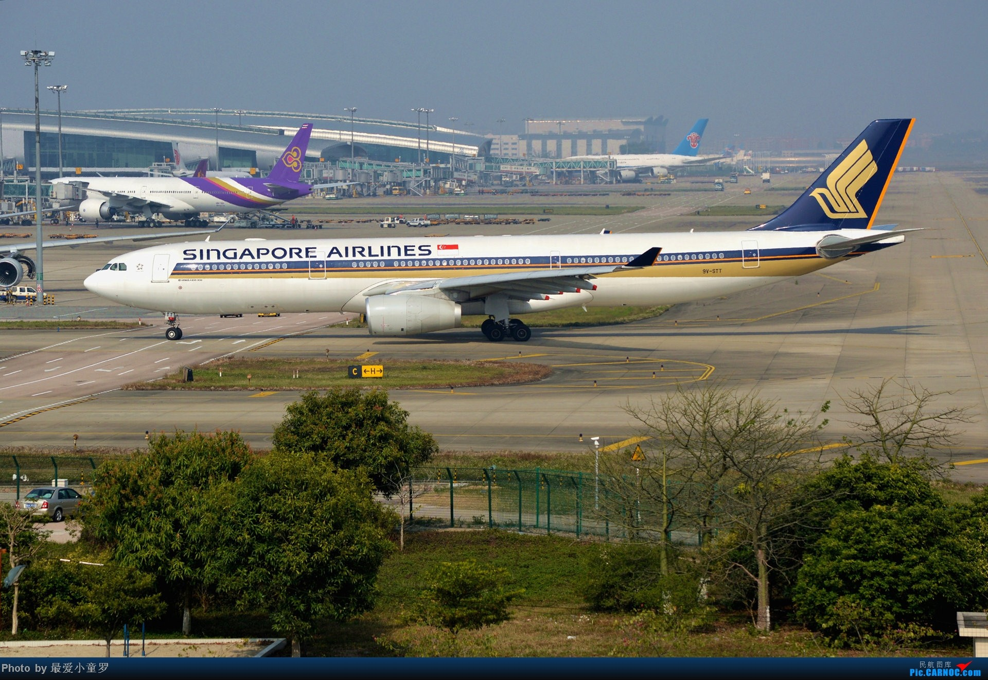 Re:[原创]好天拍机,去年12月21日广州消防塔拍机 AIRBUS A330-300 9V-STT