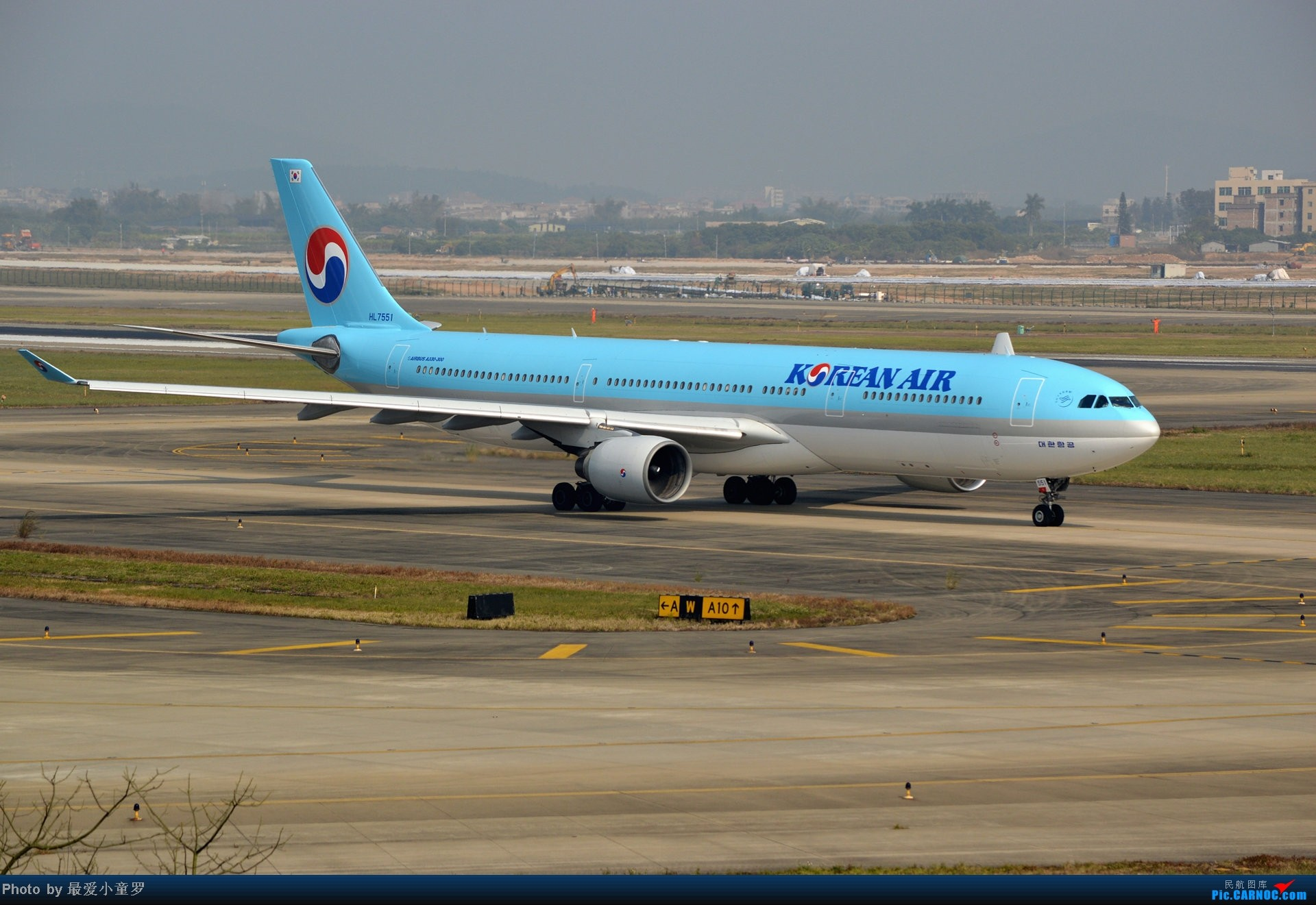 Re:[原创]好天拍机,去年12月21日广州消防塔拍机 AIRBUS A330-300 HL7551