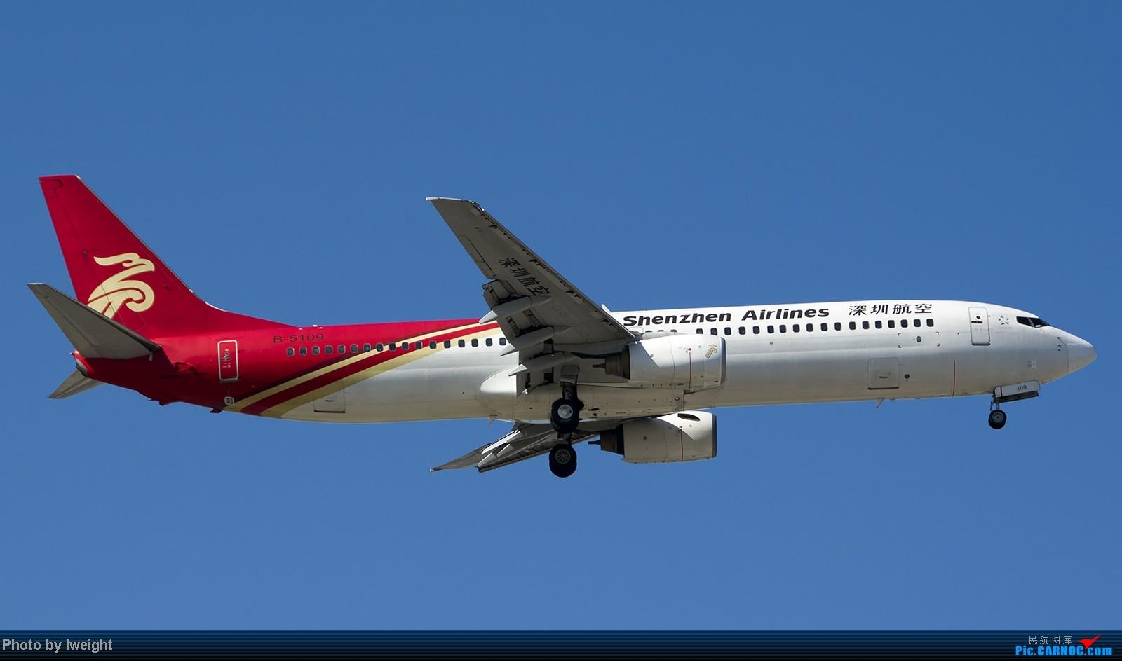 Re:[原创]难得赶上PEK周末好天气,各种常见机型都有收获 BOEING 737-900 B-5109 中国北京首都机场
