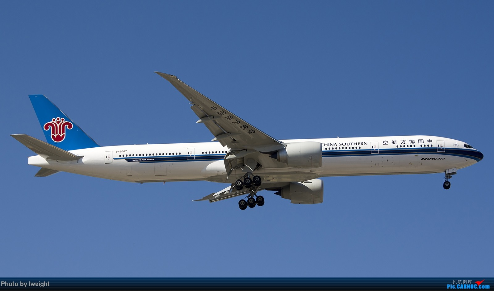 Re:[原创]难得赶上PEK周末好天气,各种常见机型都有收获 BOEING 777-300ER B-2007 中国北京首都机场