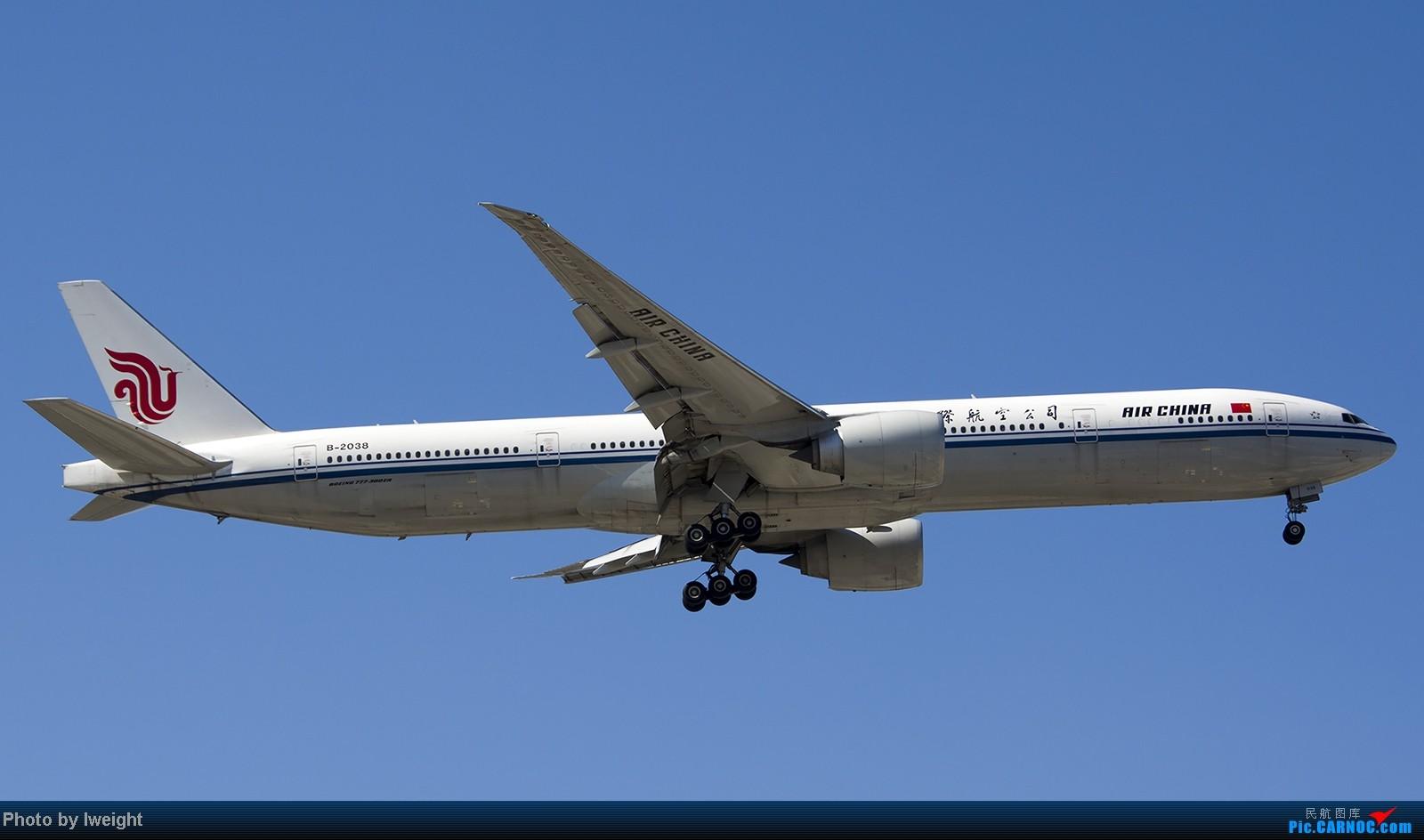 Re:[原创]难得赶上PEK周末好天气,各种常见机型都有收获 BOEING 777-300ER B-2038 中国北京首都机场