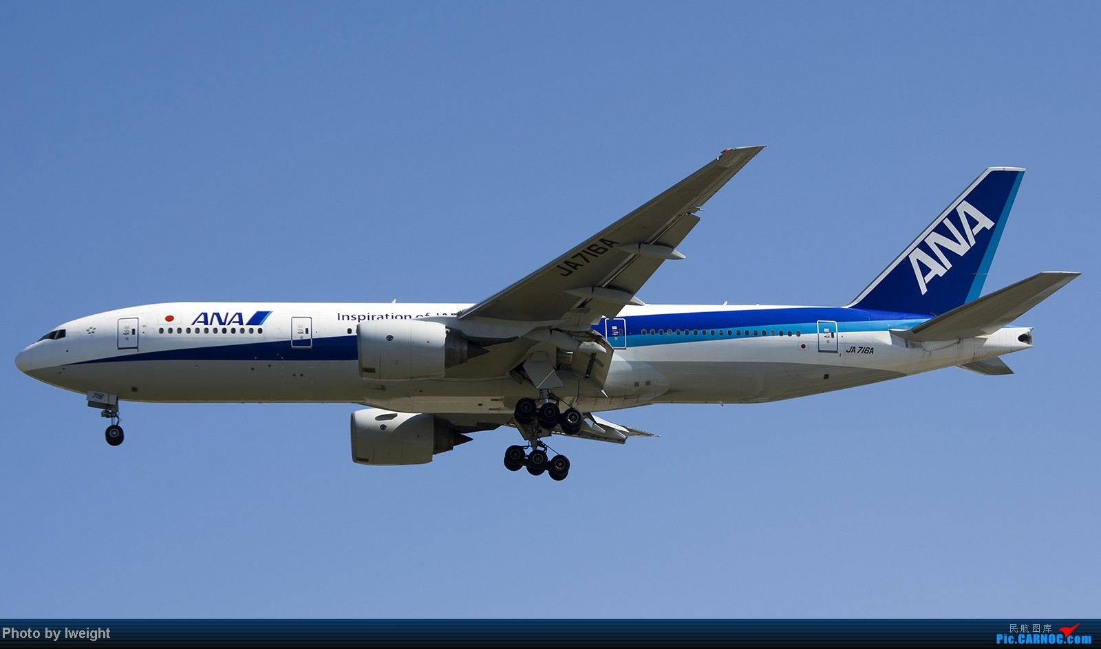 Re:[原创]难得赶上PEK周末好天气,各种常见机型都有收获 BOEING 777-200ER JA716A 中国北京首都机场