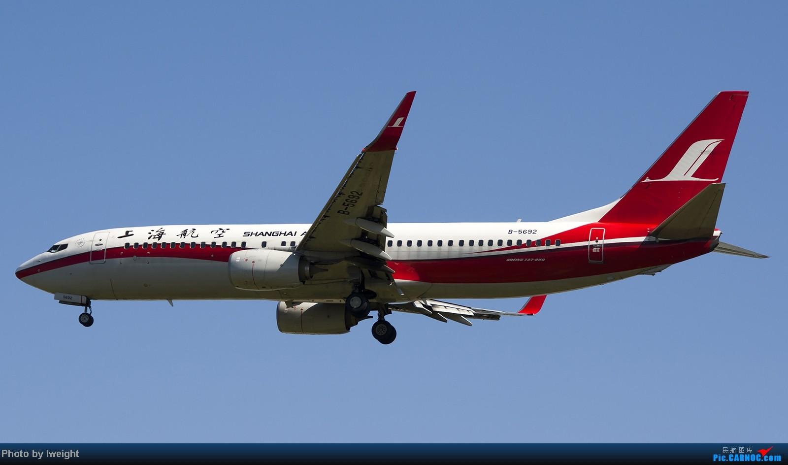 Re:[原创]难得赶上PEK周末好天气,各种常见机型都有收获 BOEING 737-800 B-5692 中国北京首都机场