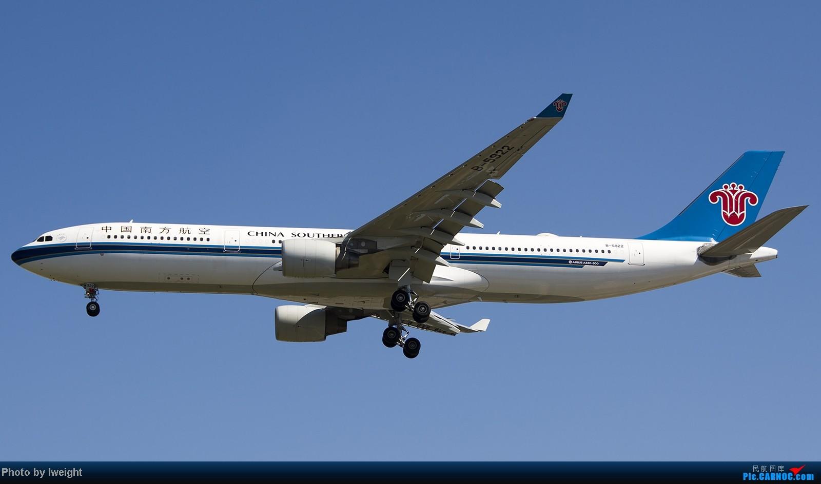 Re:[原创]难得赶上PEK周末好天气,各种常见机型都有收获 AIRBUS A330-300 B-5922 中国北京首都机场