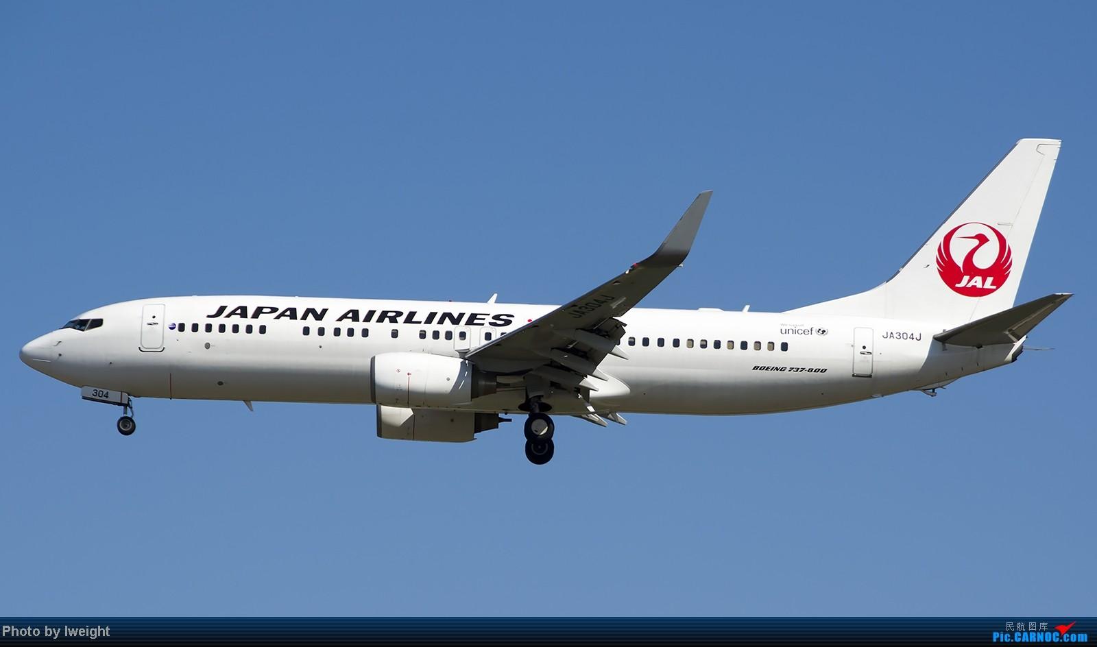 Re:[原创]难得赶上PEK周末好天气,各种常见机型都有收获 BOEING 737-800 JA304J 中国北京首都机场