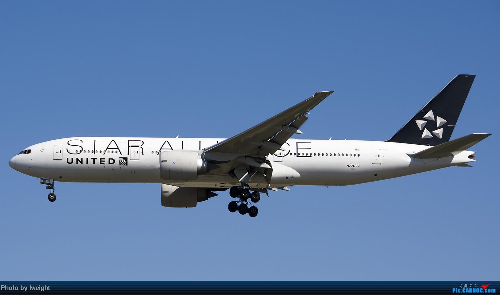 Re:[原创]难得赶上PEK周末好天气,各种常见机型都有收获 BOEING 777-200ER N77022 中国北京首都机场