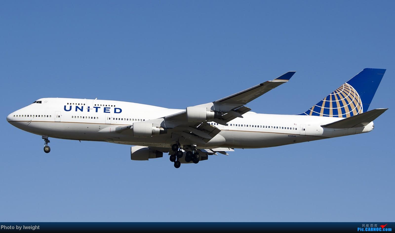 Re:[原创]难得赶上PEK周末好天气,各种常见机型都有收获 BOEING 747-400 N119UA 中国北京首都机场