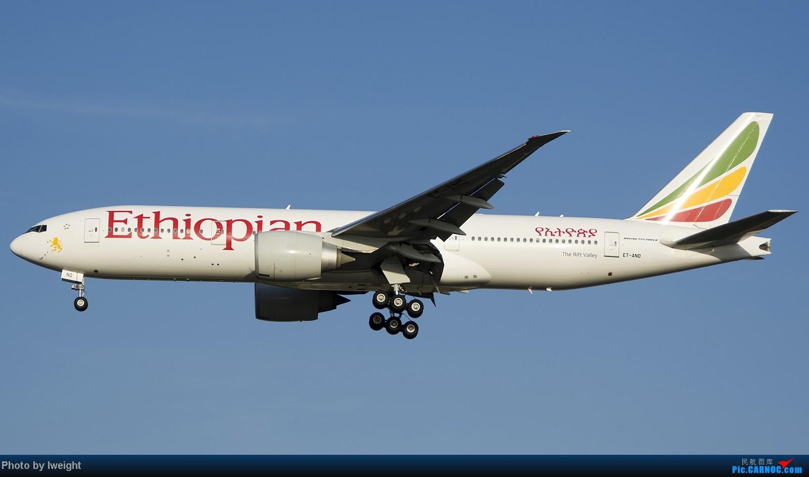 Re:[原创]难得赶上PEK周末好天气,各种常见机型都有收获 BOEING 777-200LR ET-ANO 中国北京首都机场