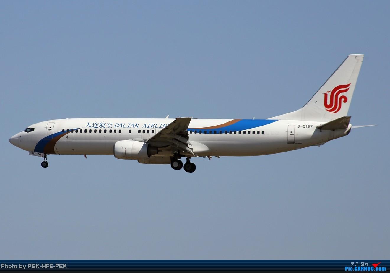 Re:[原创][AutumnKwok]秋高气爽,PEK拍机(西班牙 总 理 专。机,EVA新涂装77W,英航寰宇,蒙古763小姨。。。) BOEING 737-800 B-5197